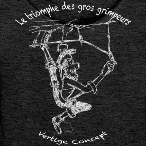 esquisse grimpeur triomphe des gros - Sweat-shirt à capuche Premium pour hommes