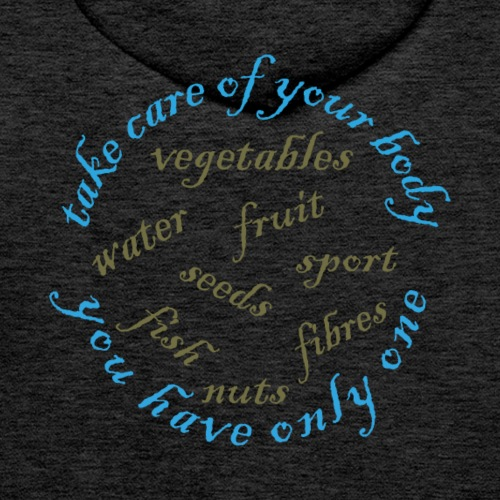Gezond eten en drinken - Mannen Premium hoodie
