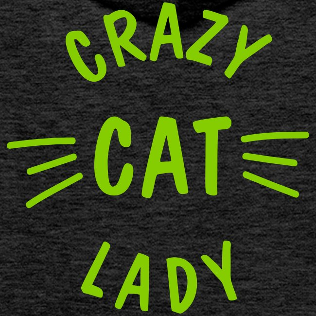 Vorschau: Crazy Cat Lady meow - Männer Premium Hoodie
