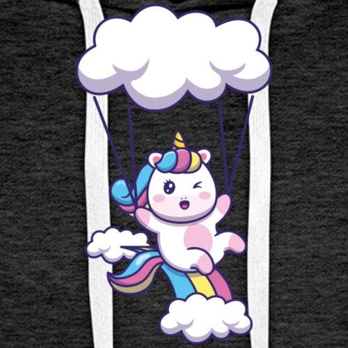 Einhorn Unicorn Paragliding - Männer Premium Hoodie