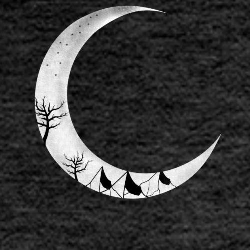 Mond mit Landschaft