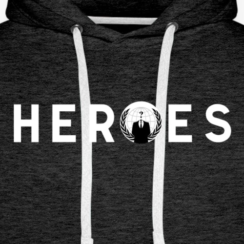 Anonymous Heroes - Sweat-shirt à capuche Premium pour hommes