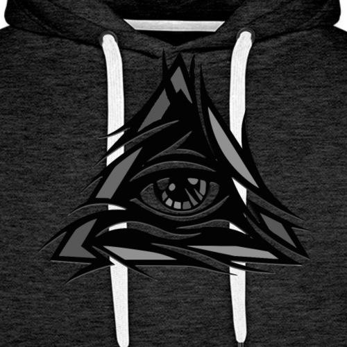 illuminati - Felpa con cappuccio premium da uomo