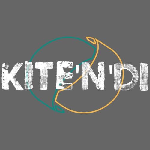 Front Kitesurf Passion White - Felpa con cappuccio premium da uomo
