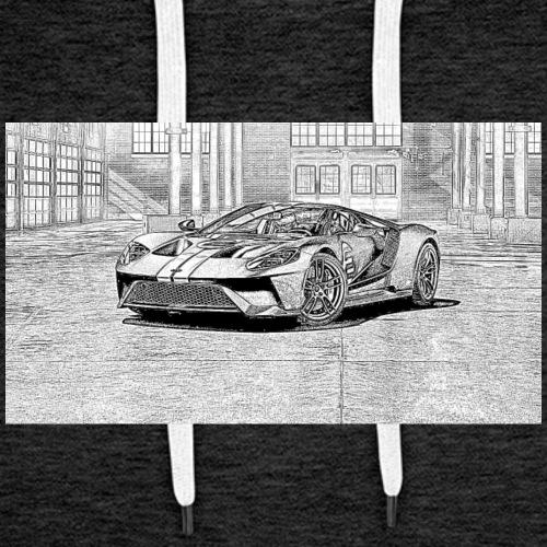 GT Sports car - Mannen Premium hoodie