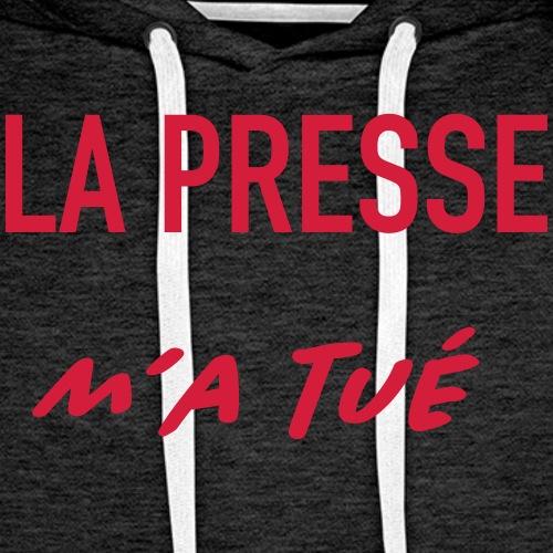 la presse m'a tué - Sweat-shirt à capuche Premium pour hommes