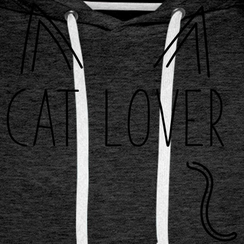 Cat Lover - Felpa con cappuccio premium da uomo