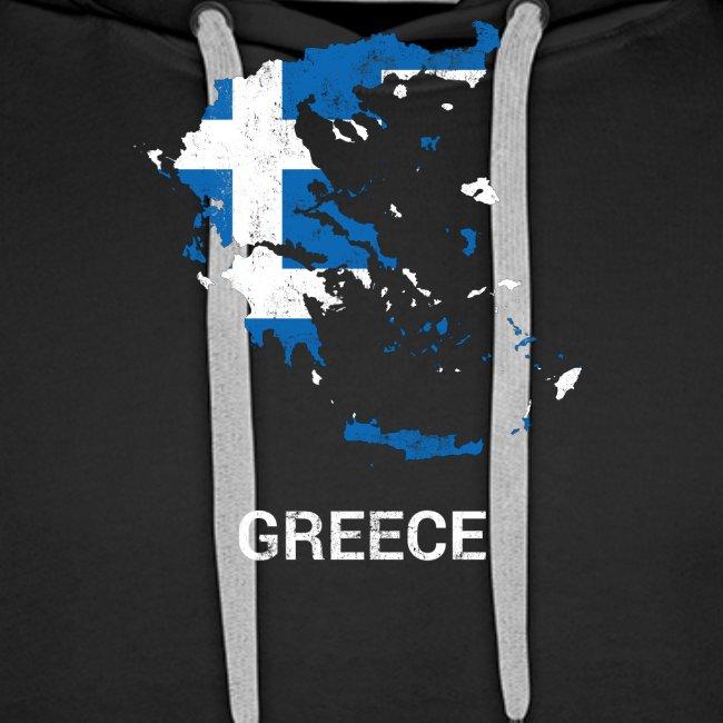 Greece ( Hellas Ellada ) country map & flag