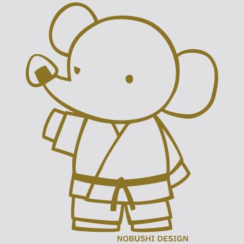 Gouden olifant - Mannen Premium hoodie
