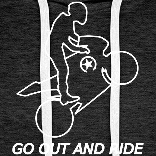 go out and ride superbike wheelie racefritzz ed. - Men's Premium Hoodie