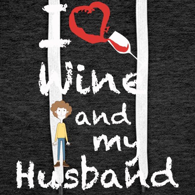 I love Red wine & my Husband Couples Pairs Wedding