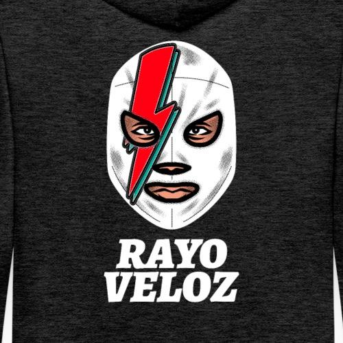 Lucha Mexicana   Luchador   Rayo Veloz - Sudadera con capucha premium para hombre
