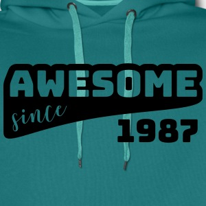 Awesome since 1987 / Birthday-Shirt - Männer Premium Hoodie