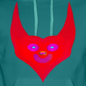 cornes cardiaques diable satan abstract - Sweat-shirt à capuche Premium pour hommes
