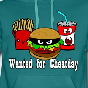 Cheatday: Burger, fries, soft drink - Men's Premium Hoodie