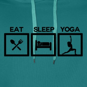 Eat Sleep Yoga - Cycle! - Men's Premium Hoodie