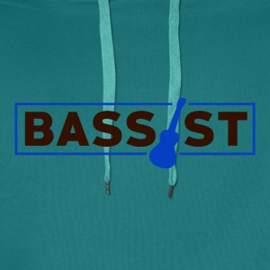 Bassist - Musikk Passion - Premium hettegenser for menn