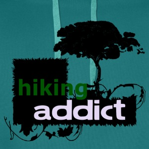 HIKING ADDICT - love for hiking - Men's Premium Hoodie