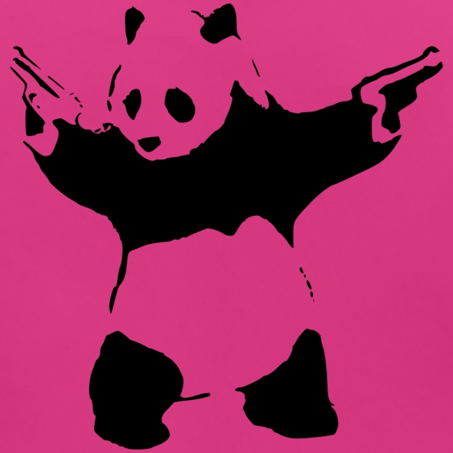 Panda avec des fusils