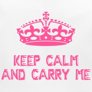 keep calm and carry me - Baby Organic Bib