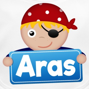 Little Pirate Aras - Ekologisk babyhaklapp