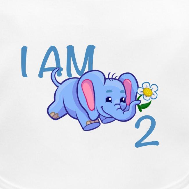 I am 2 - elephant blue