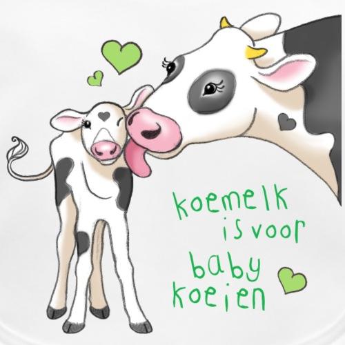 koemelk is voor baby koeien - Organic Baby Bibs