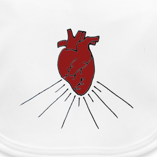 heart - Bavaglino ecologico per neonato