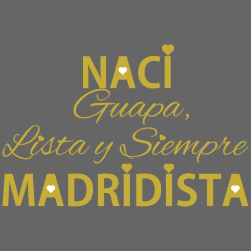 Guapa lista y siempre Madridista - Bavaglino ecologico per neonato