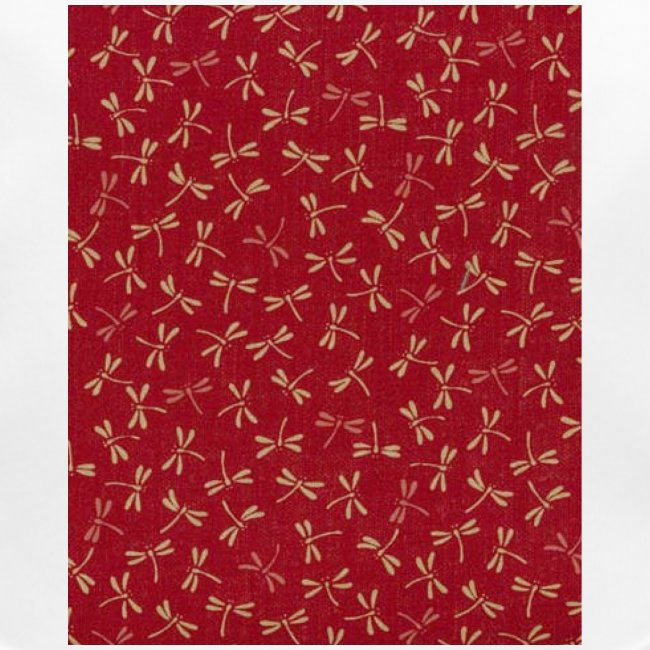 Motif dragon sur fond rouge