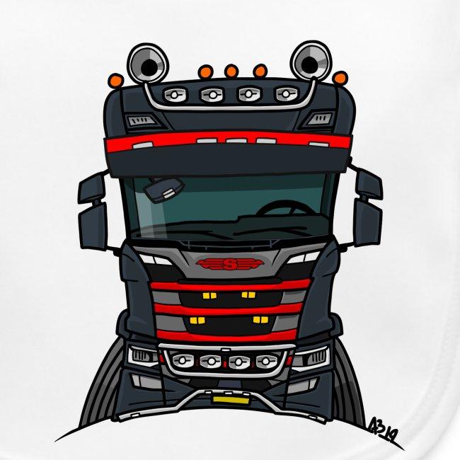 0814 S truck zwart rood