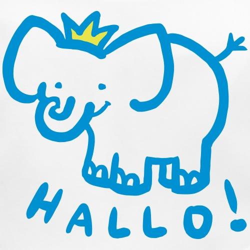 hallo elefant mit krone - Baby Bio-Lätzchen