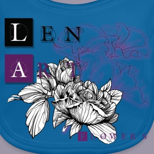 LenArt_Flowers - Bavoir bio Bébé
