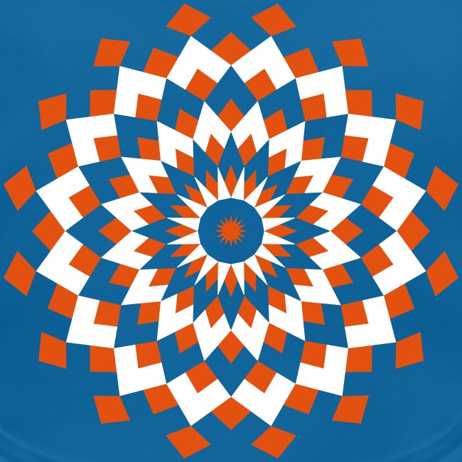 Mandala losanges orange et blanc