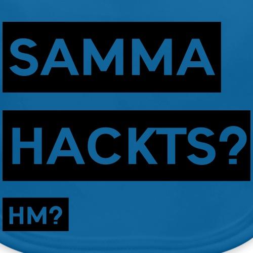 Samma Hackts ft1 (Spruch) - Baby Bio-Lätzchen
