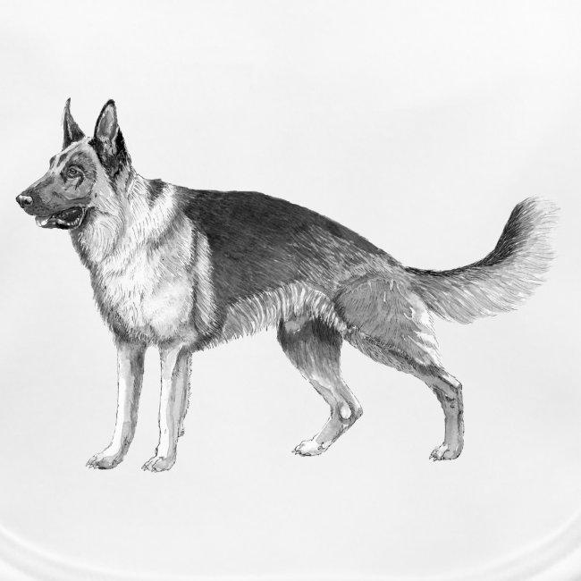German shepherd schæfer ink