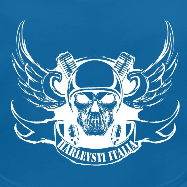 Harleysti Italia logo bianco white