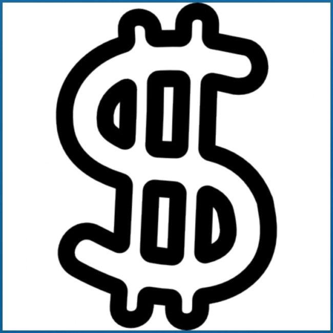 geld symbol hand gezeichnet umriss 318 51951