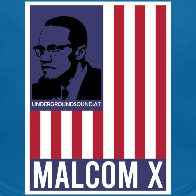 MALCOM X - USA FLAG