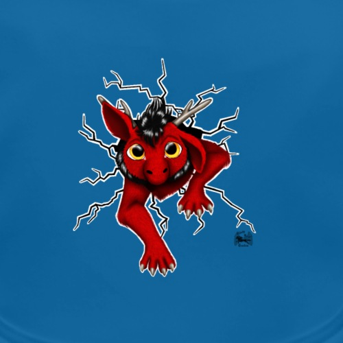 Drachi stuck red schwarzl - Baby Bio-Lätzchen