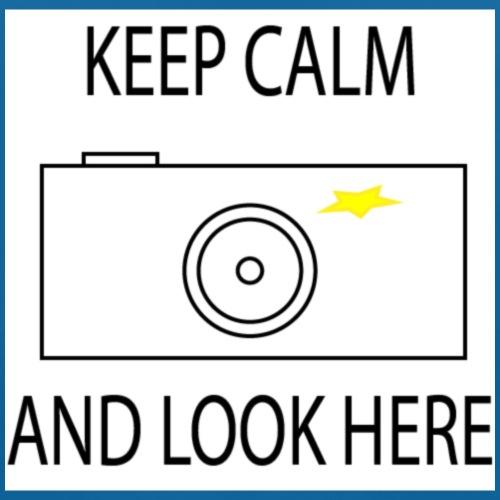 Keep calm and look here - Baby Bio-Lätzchen