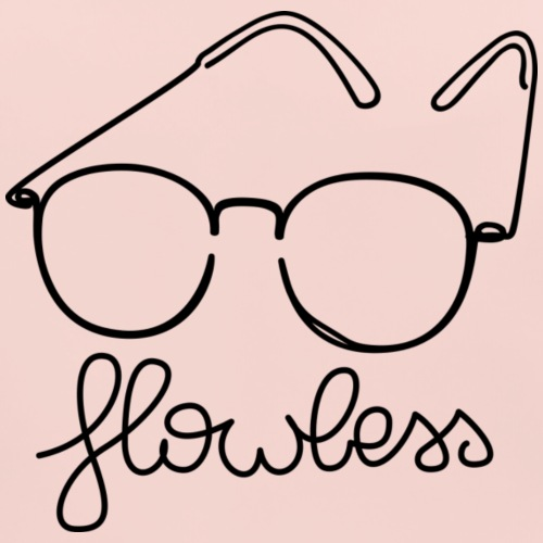 Flowless Glasses Black - Bio-slabbetje voor baby's