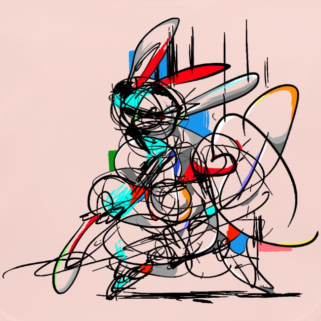 Ninja fighter Easter Bunny / Abstract
