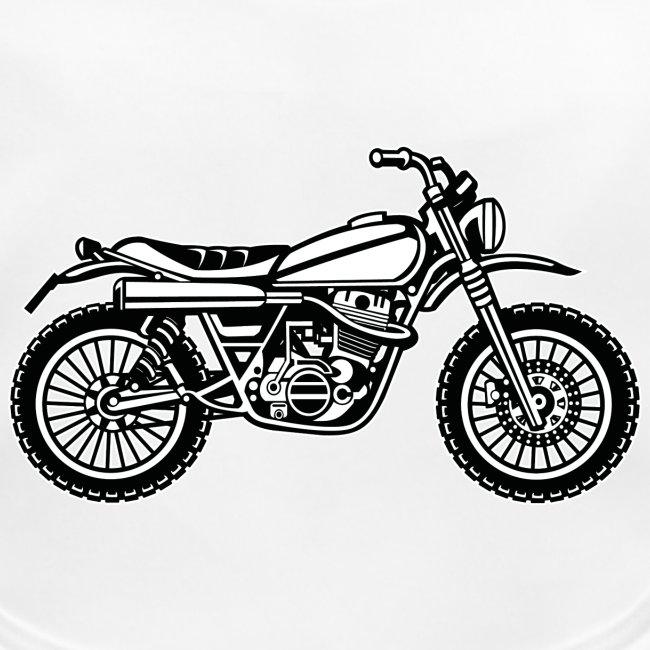 Motocross Enduro Motorrad 01_schwarz weiß