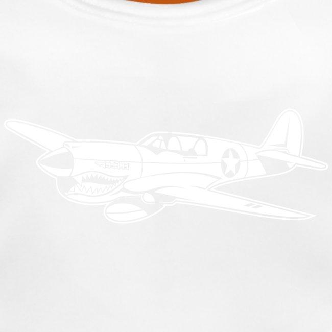 Jagdflugzeug / Kampfflieger Warhawk 02_weiß