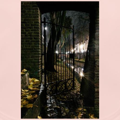 Het hek aan de oude gracht Utrecht - Bio-slabbetje voor baby's