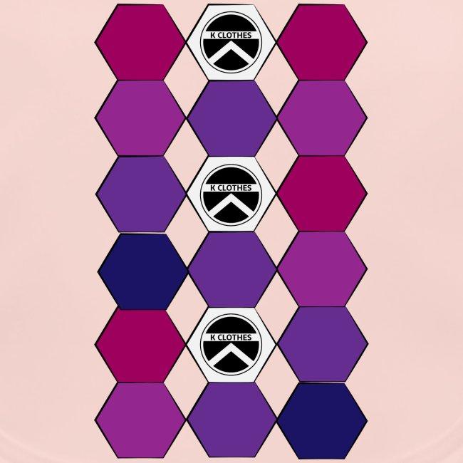  K·CLOTHES  HEXAGON ESSENCE PURPLES & WHITE