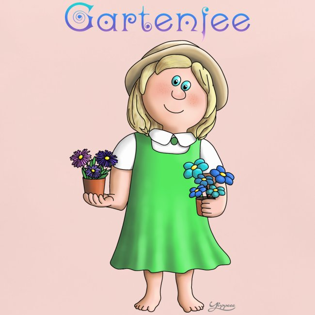 Süßes Garten Mädchen - Gartenfee