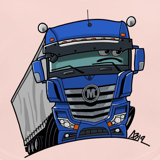 0807 M truck blauw trailer
