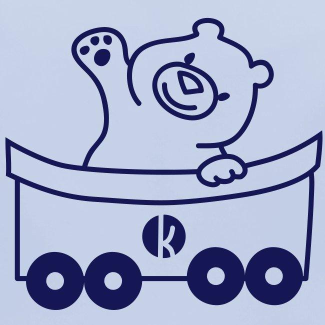 Bär in der Bahn - Bear on the carriage